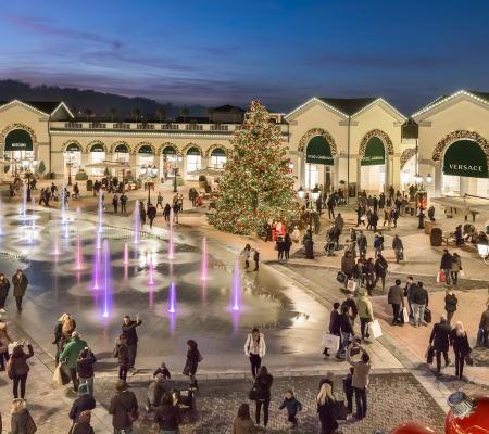 La magica atmosfera del Natale al Serravalle Designer Outlet