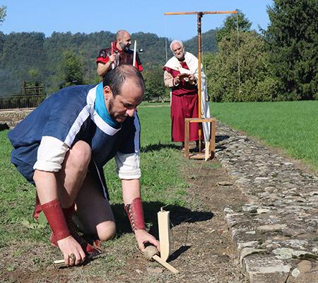 Antichi agrimensori romani misurano l'area di Libarna!